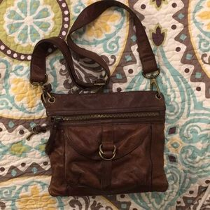 Leather cross body Fossil purse